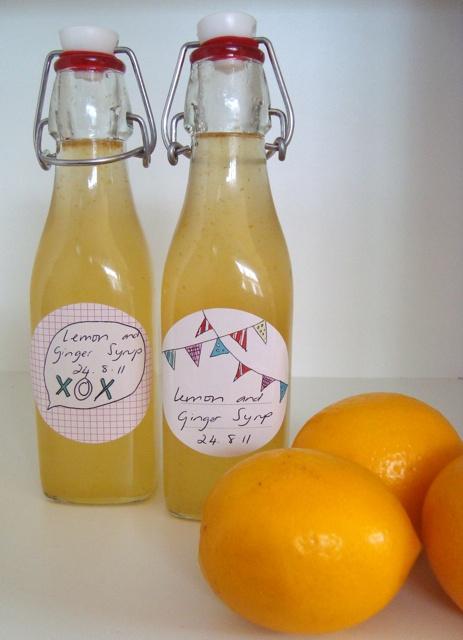 Lemon and ginger syrup mmm | packaging / bottles | Pinterest