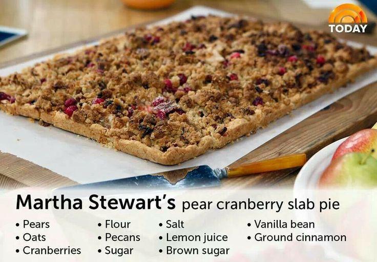 Martha Stewarts pear cranberry slab pie | Dessert | Pinterest