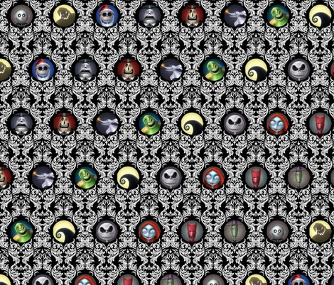 Nightmare Before Christmas Black fabric by insomniac_designs on ...
