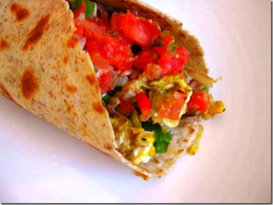 Vegetarian Breakfast Burritos, 6 points+, Simply Filling