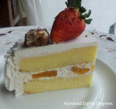 fresh mango amp cream sponge cake