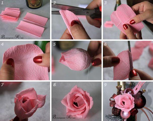 Цветок с конфетой своими руками пошаговое фото 92