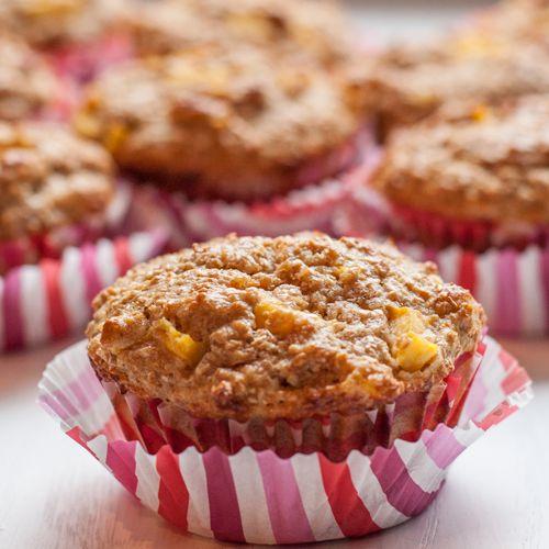 Healthy Mango Bran Protein Muffins Recipe -- Healthy mango muffins ...