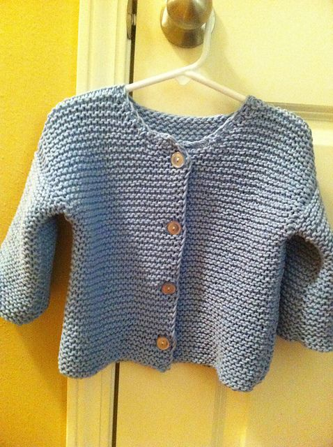 Garter Stitch Baby Cardigan- K crochet and knit Pinterest