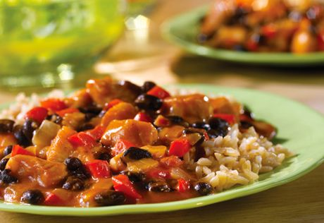 ... it enhances the flavor of this enjoyable chicken beans and rice dish