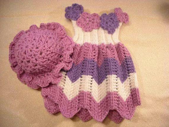 Knitting Patterns Baby Frocks : Crochet frock Crochet / Knitting all the way! Pinterest
