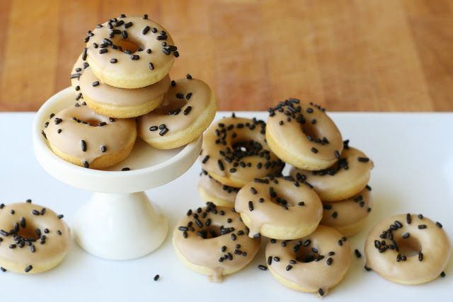 Baked Mini Cake Doughnuts with Maple Glaze {Recipe} - Glorious Treats