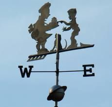 """It's A Mad Men World—Providing Vintage Howard Johnson Props for the TV Series -> A 1960s-vintage Howard Johnson weather vane. This was one of the items on the prop list for the """"Mad Men"""" episode called """"Far Away Places."""""""