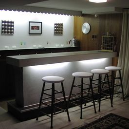 Lighted Bar Front Tile Ideas For Bar Pinterest