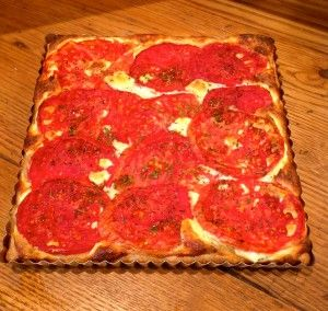 heirloom tomato tart with ricotta/cheese filling | Food= vegetables ...