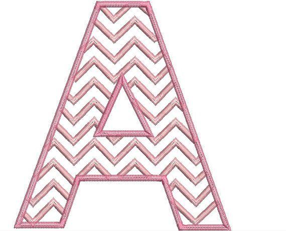 chevron block letter applique entire alphabet set With block letter applique