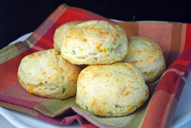 Cheddar, Bacon and Scallion Biscuits | Breads | Pinterest