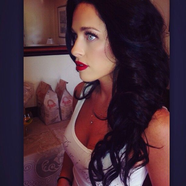 dark hairblue eyesred lips hair and pretty stuff