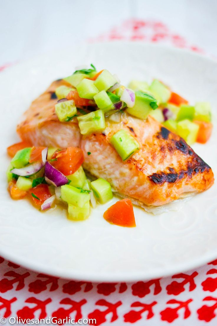 Dijon Salmon with Cucumber Avocado Salsa | Recipes to Try | Pinterest