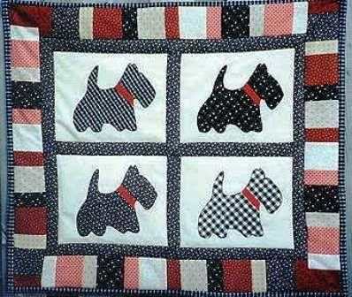 Quilt Pattern For Scottie Dog : Dog Lovers...Scottie Dog Wall Quilt Pattern