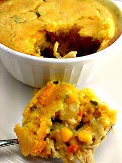 Chicken Pot Pie with a Cornbread Crust | Main Dishes | Pinterest