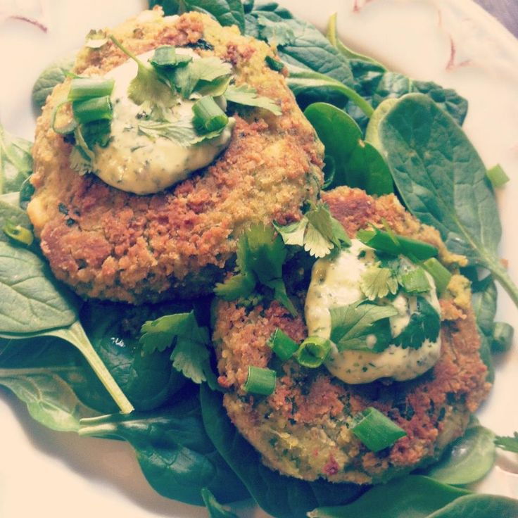 Coconut Avocado Chickpea Cakes + Cilantro Lime Dressing // {Sprout ...