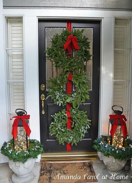 Front door wreaths wreath ideas pinterest for Front door xmas wreaths