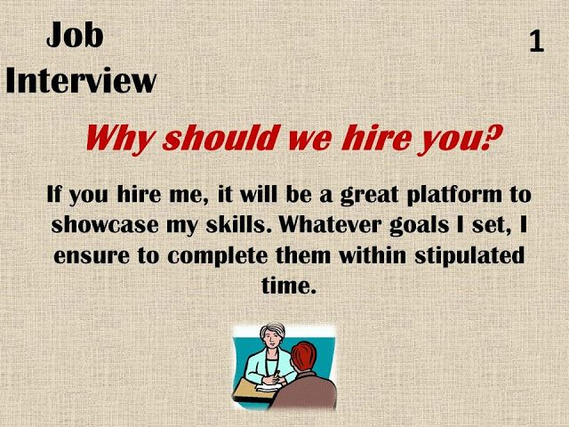 why should we hire you interview questions livecareer 7689710