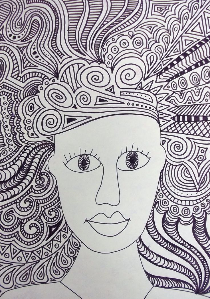 Line Quality In Art : Crazy hair art lesson line quality doodles to do