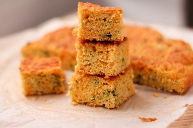 White Cheddar And Scallion Corn Bread Recipe — Dishmaps