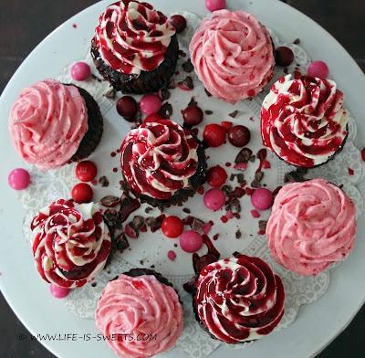 Chocolate Raspberry Crunch Cupcakes - recipes
