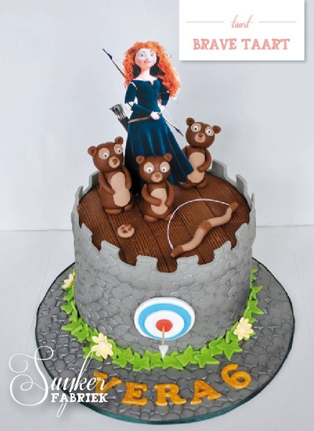 Brave cake....top layer cake idea For Eria