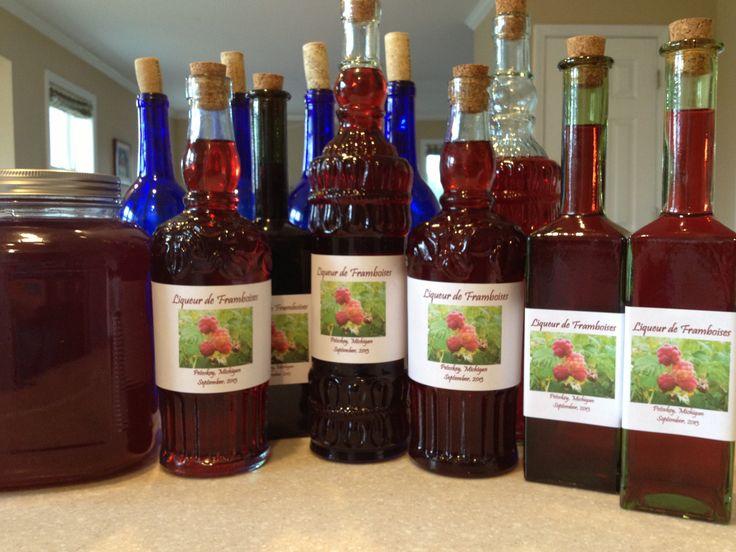 Homemade raspberry liqueur Sept. 2013 | Drinks | Pinterest