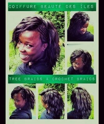 Crochet Braids On One Side : Crochet braids and tree braids with cornrows on one side