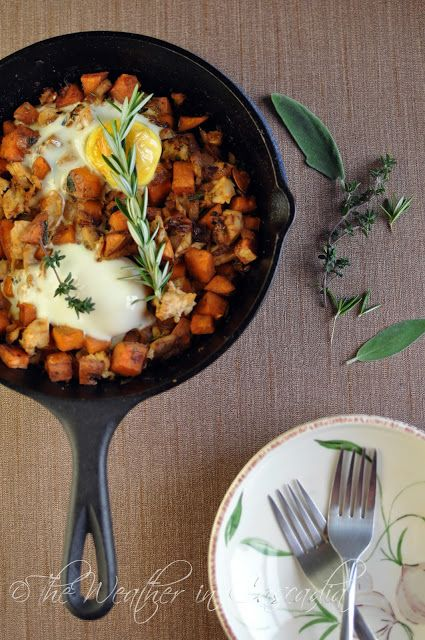 the weather in cascadia leftover turkey amp sweet potato hash