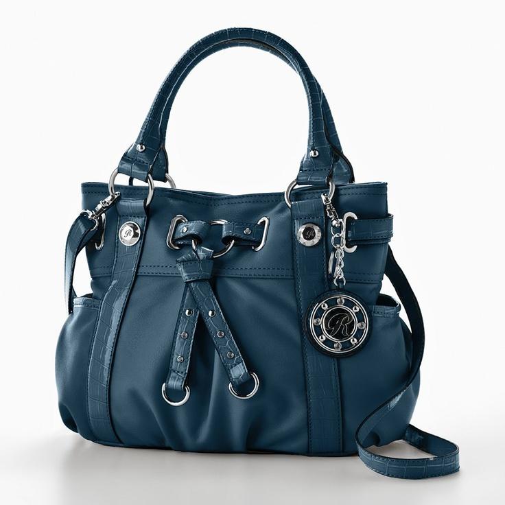Blue Rosetti handbag.