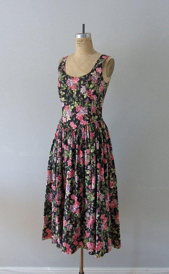 laura ashley dress 80s sundress 1980s vintage sun dress