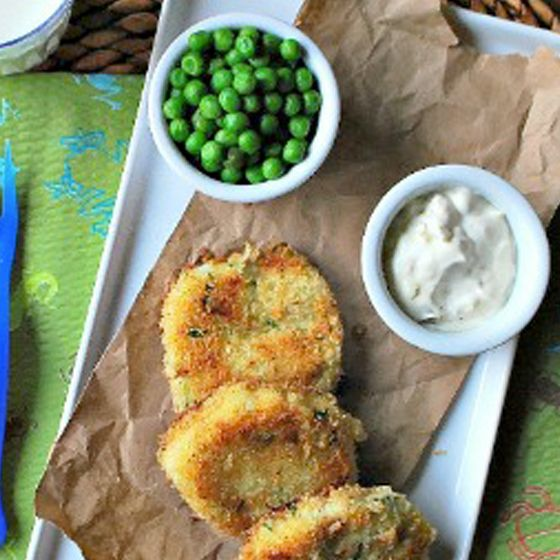 Fish Cakes With Lemon-Dill Dipping Sauce | Tell them they're chicken ...