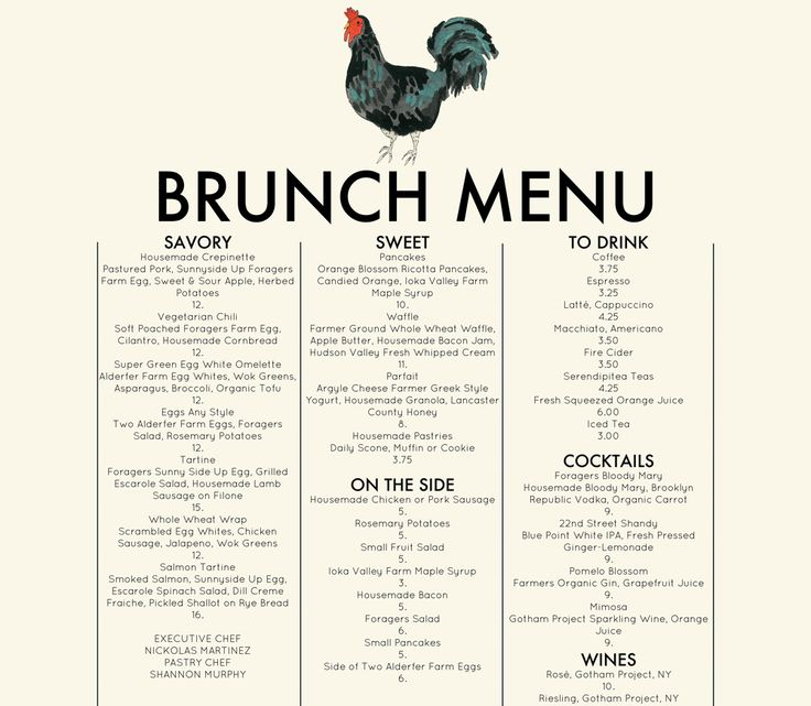 pin by carmen on restaurant menus pinterest ForTable 6 Brunch Menu