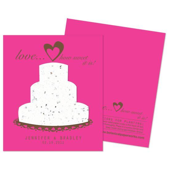 Sweet love plantable wedding favors plantable favors pinterest