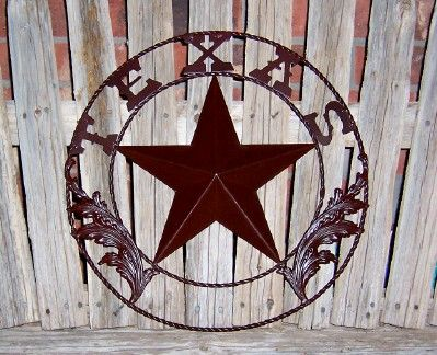 Texas lone star metal wall decor home pinterest for Lone star home decor