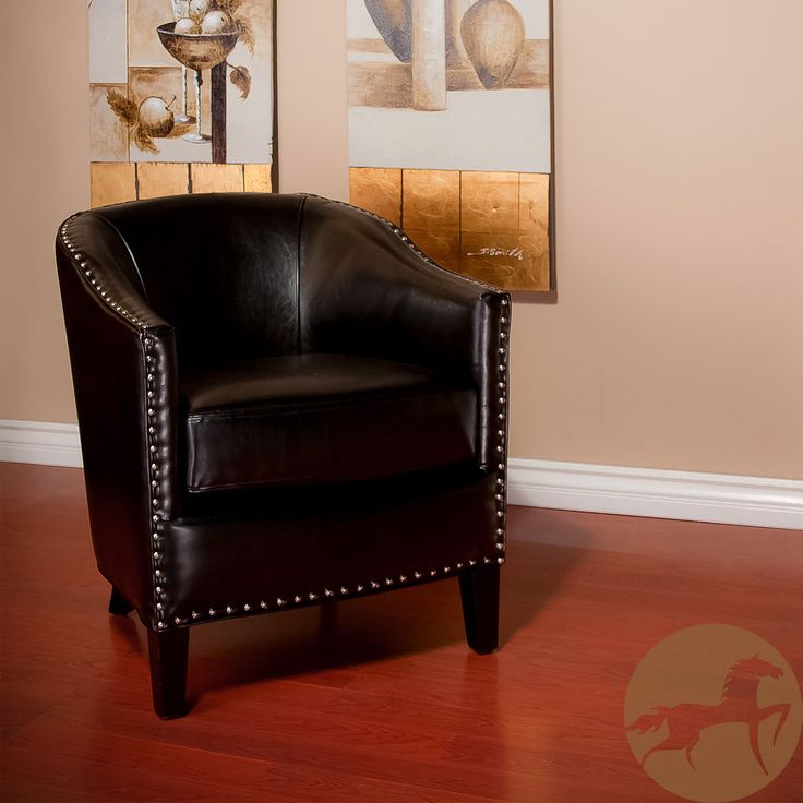 christopher knight home austin black leather club chair overstock