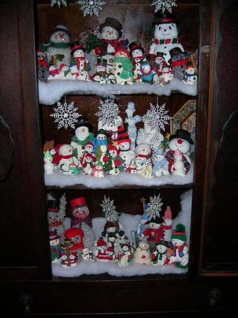 snowman collection display snowmen pinterest