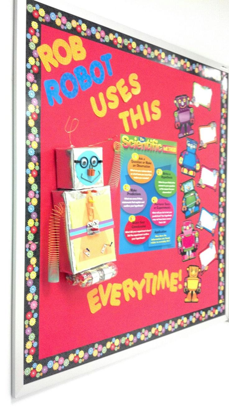 Robot Classroom Decoration Ideas ~ Scientific method robot bulletin board classroom