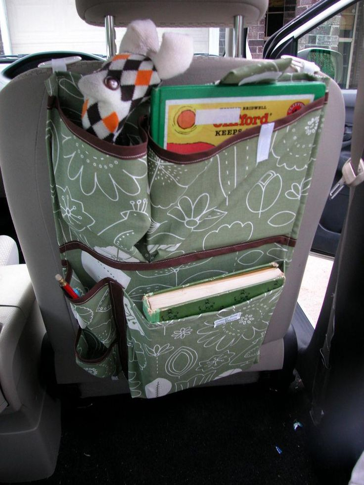 Backseat car organizer diy 15