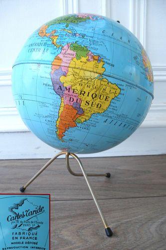 ancien grand globe terrestre mappemonde cartes taride paris. Black Bedroom Furniture Sets. Home Design Ideas