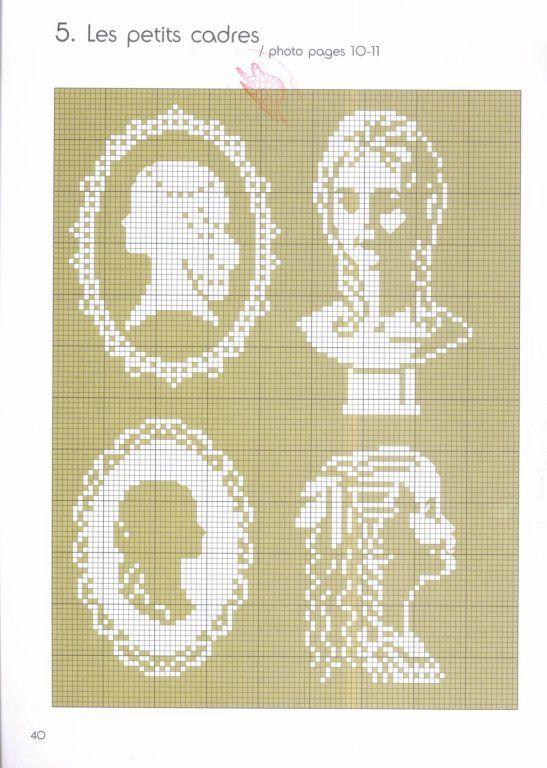 Схемы вышивки крестом миниатюры монохром 9
