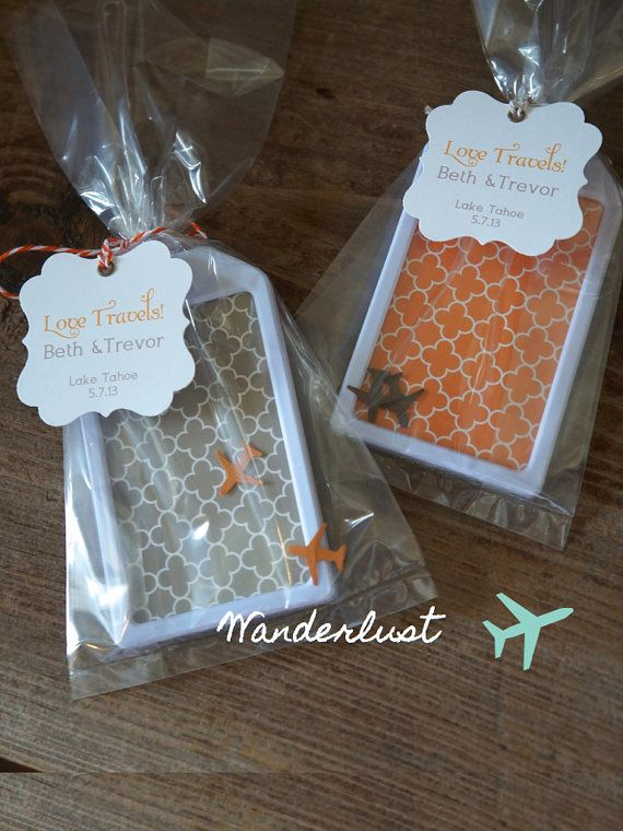 Wedding Favors Wanderlust Luggage Tags by lovetravelsfavors