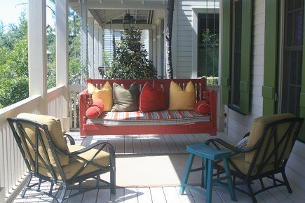 For the covered porch - swing bed