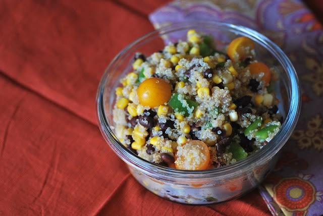Quinoa Corn and Black Bean Salad from Call Me Fudge