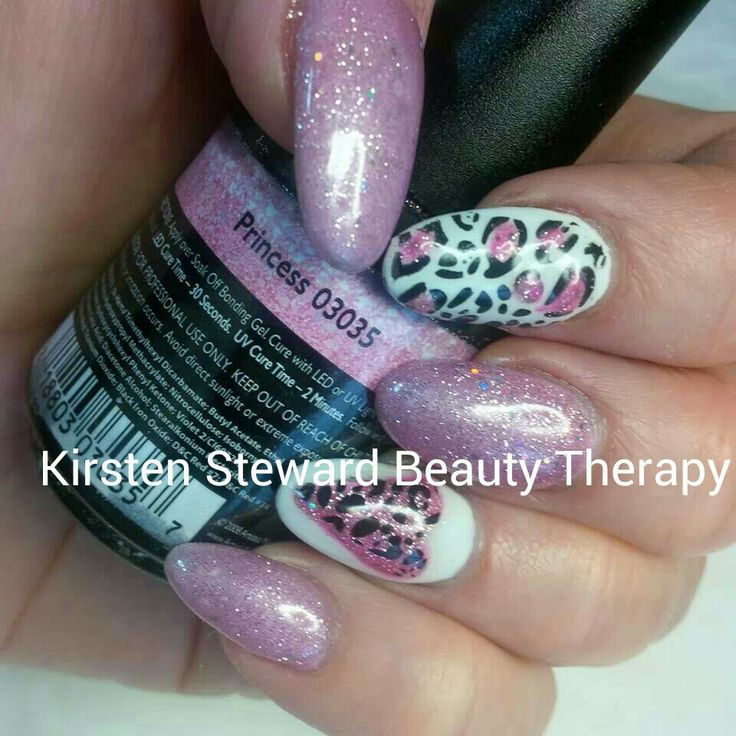 valentine leopard nails