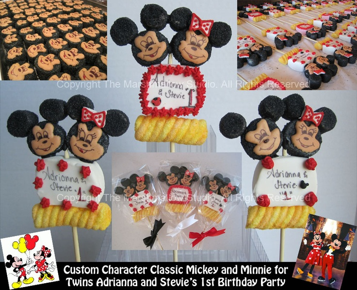 My twins first birthday is coming up and doing Mickey/Minnie theme.  Maybe I'll do these as favors.