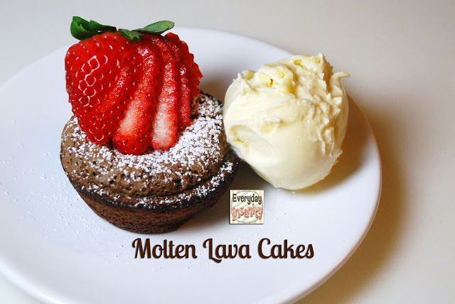 Everyday Insanity...: Molten Lava Cakes--my way!