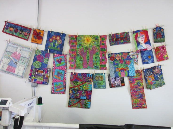laundry line to hang art quilts in my studio
