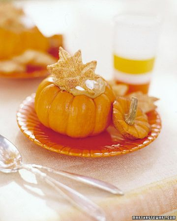 pumpkin pudding (and really awesome idea to serve it in mini pumpkins)